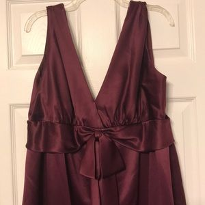 After Six Tea Length Dress w/ Bow in Front